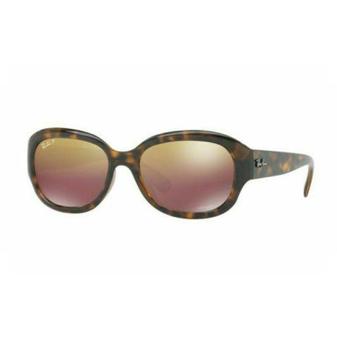 Ray Ban CHROMANCE RB4282CH 710/6B 55 Havana w/ Purple Mir Gold Grad Polar Lens