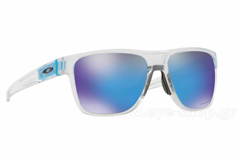 New Oakley Crossrange XL OO9360-2158 Matte Clear w/Sapphire Iridium Sunglasses