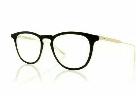 Dita Eyeglass - Oval Style Plastic Frame with Demo Lens - Falson DTX105-49-01A BLK-GLD49mm