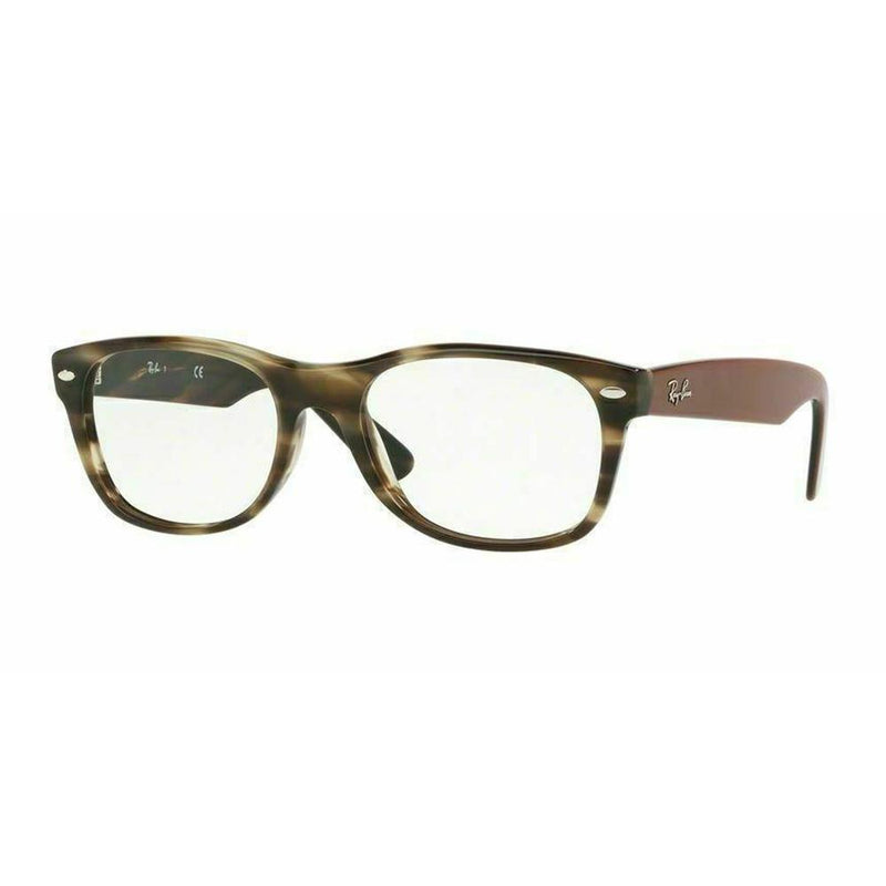 Ray Ban Square Style Havana Green Eyeglasses W/Demo Lens
