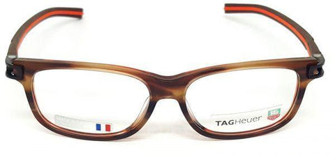 Tag Heuer Eyeglass Rectanular Style Brown Frame with Customisable Lens - TH7606 002 54MM