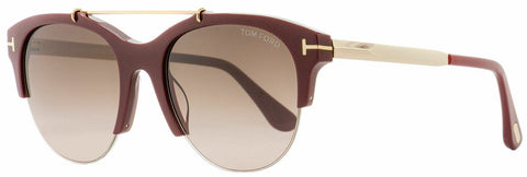 Tom Ford Oval Sunglasses FT0517/S 69T 55 Adrenne  56Z Tortoise/Gold 55mm