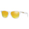 Oakley Sunglass Square Style Frogskins 24K Iridium Lens - Men's Sunglass Polished Clear Frame OO9245-39