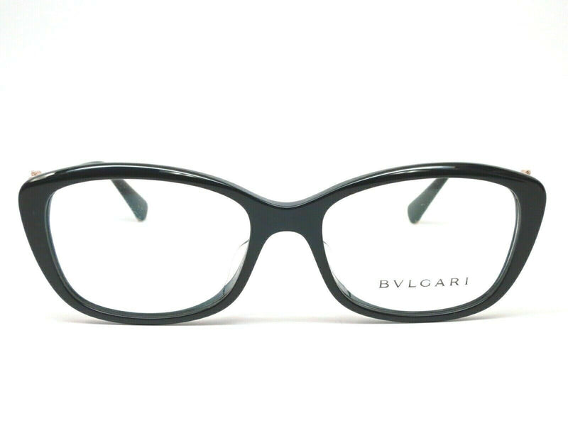 New Bvlgari Eyeglass - Cat Eye Style Black / Gold Color Eyeglass BV4158 501 55