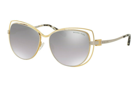 New Michael Kors Sunglasses MK 1013 11196V Gold / Silver Mirrored 58mm Authentic