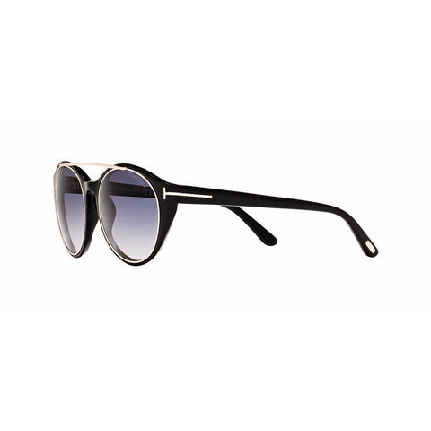 Tom Ford Sunglass - Shiny Black Gold Gradient Lens - FT0383 01W 52