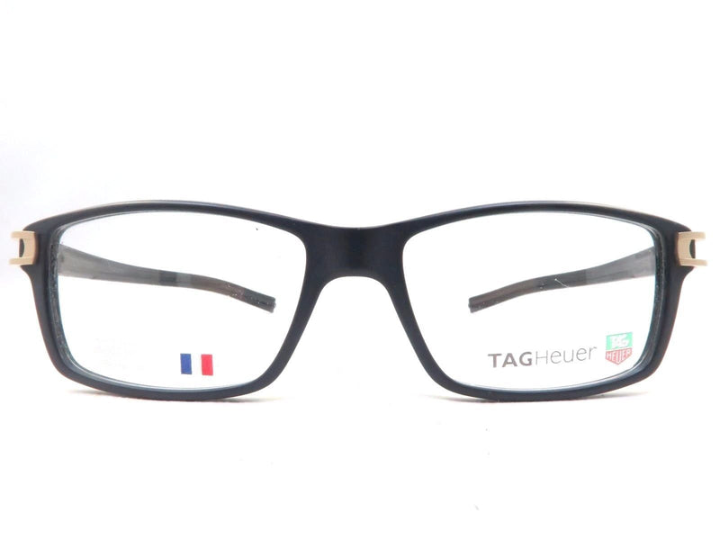 Tag Heuer Eyeglass Track S Square Style Demo Lens - Men's Eyeglass Matte Black Frame TH7601-008-55mm