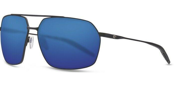 Costa Del Mar Sunglass - PLH11 OBMP Aviator Style Pilothouse Model Matte Black Color Sunglass