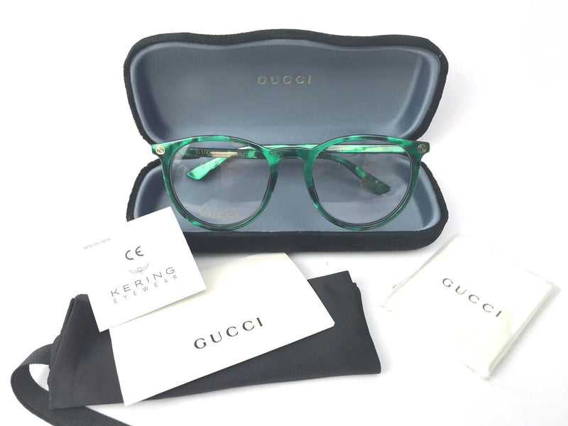 Gucci Eyeglass Round Style GG0027O 006 50MM - Green Color Women Eyeglass
