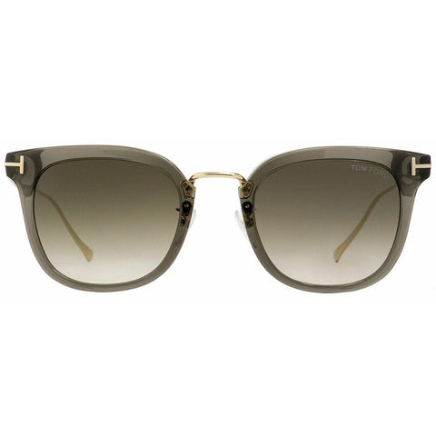 Tom Ford Sunglasses Square Style Gray-Green Gradient Lens