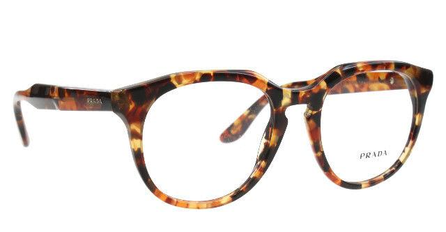 Prada Eyeglass - Round style journal VPR13S UBM-1O1 - Brown Orange Havana Demo lens