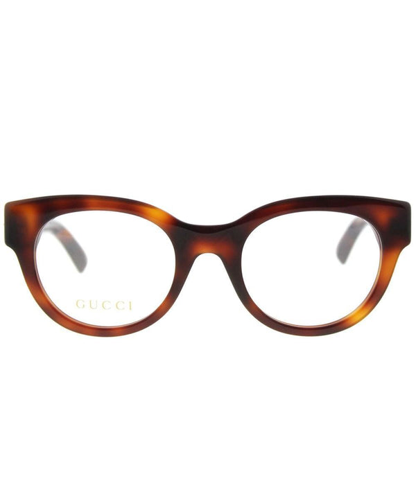 Gucci GG0209O 002 Women Optical Eyeglasses Havana Brown Gold Frame 48mm