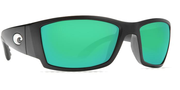 Costa AT11OGMGLP Cat Cay Sunglasses 580G Green Mirror Lens Shiny Black Frame