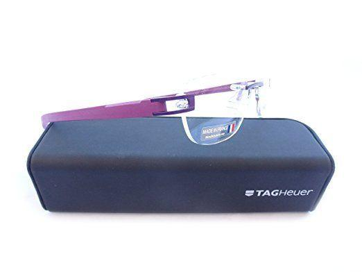 Tag Heuer Men Purple TH7646 017 52MM Optical Eyeglasses Frame