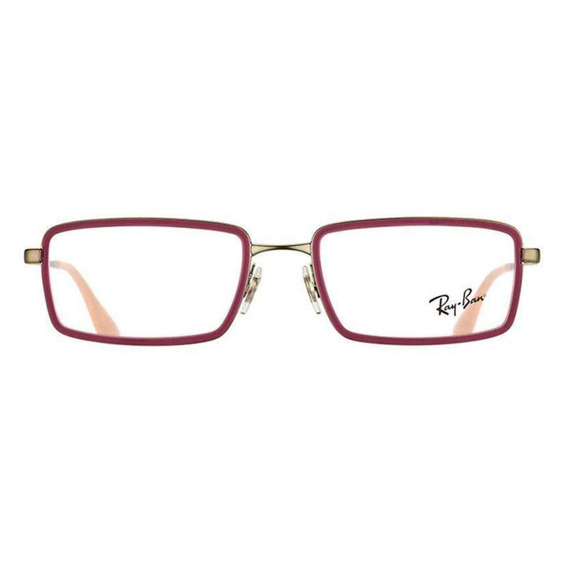 Ray-Ban Eyeglass - Rectangular RB6337-2857 Rubber Fuchsia Metal