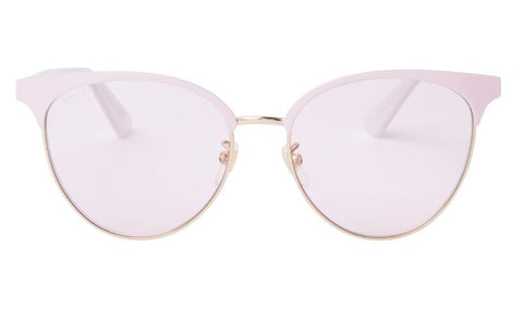 Gucci Sunglasses GG0245S 002 Light Pink and Gold Metal, Acetate