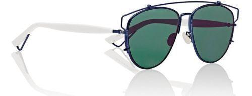 Christian Dior Sunglass Technologic Aviator Style with Green Mirrored Lens - Dior TVC/AF