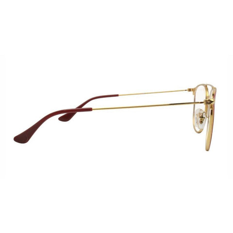 Ray Ban Square Style Gold/Shiny Bordeaux Eyeglasses W/Demo Lens