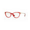 Versace Eyeglass Cat Eye Style Demo Lens - Women Eyeglass Red & Gold Frame VE3261 5280 52