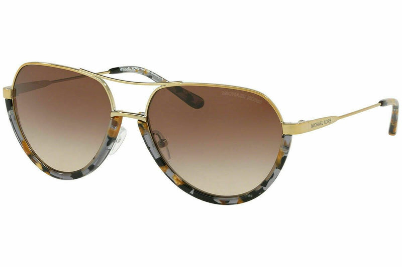 Michael Kors Austin Sunglasses MK1031 102413 58 Gold  Brown Gradient Lens