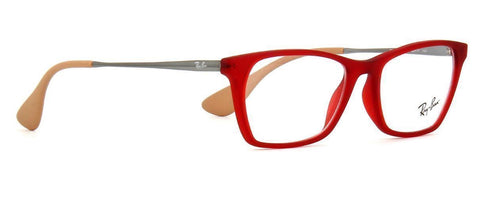 Authentic Ray Ban Eyeglasses RX7053 5525 54MM Rubber Red Frames 54MM Rx-ABLE