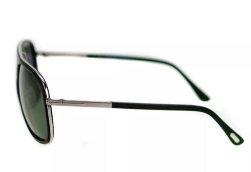 Tom Ford Chris TF0462 02N Matte Black Green G-15 Lens Men Sunglasses 62-10-140