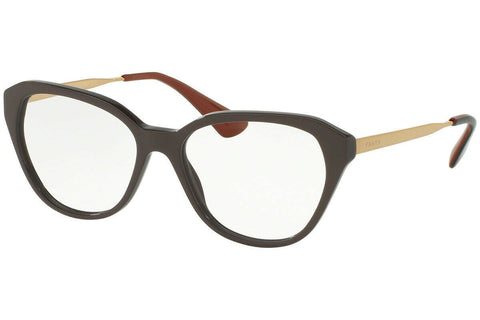 Authentic PRADA PR28SV - DHO1O1 Eyeglasses Brown *NEW*  54mm