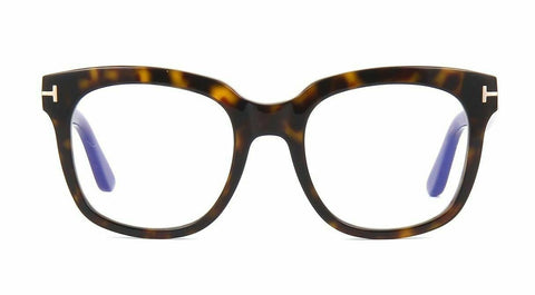 New Tom Ford Eyeglass Frames FT 5537-B/V 052 Havana For Men Women 52mm