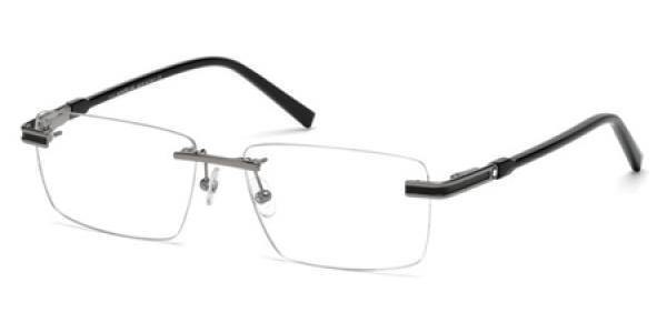 Mont Blanc Eyeglass - Rectangular Style Unisex Plastic Frame with Demo Lens - MB0690 014 55MM