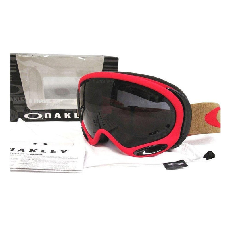 Oakley Sunglass - A Frame 2.0 Dark Grey Sports Style Sunglass OO7044-12