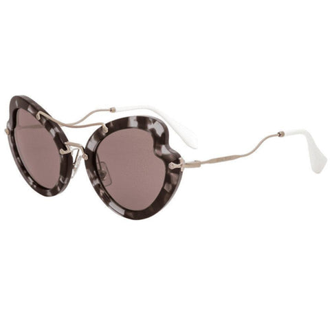 Miu Miu Sunglasses Scenique Butterfly Style Purple Brown Lens