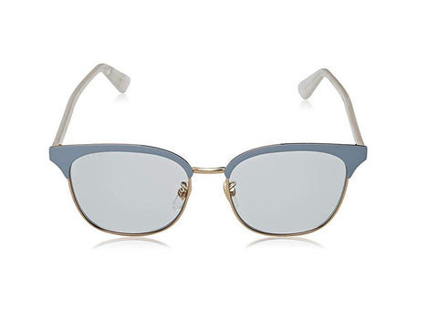 Gucci Sunglasses Women Gucci GG0244S 004 Gold Blue Metal Frame