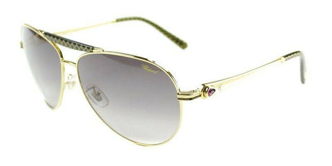 Chopard Sunglasses New Authentic Aviator  Gold/Grey Gradient SCH870S 300