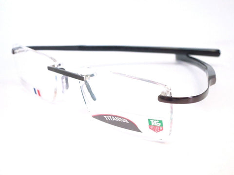 Tag Heuer TH0304 003 Black Fiber 55mm Eyeglasses Optical Frame