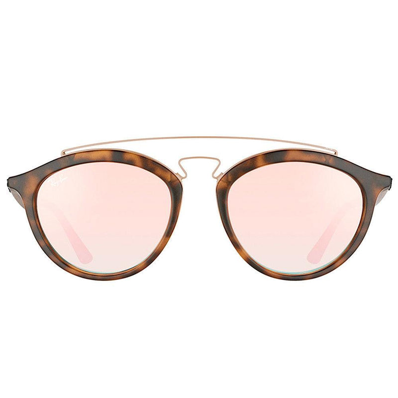 Ray Ban RB4257 6267/B9 Gatsby II Tortoise Brown Copper Mirror Round Sunglasses