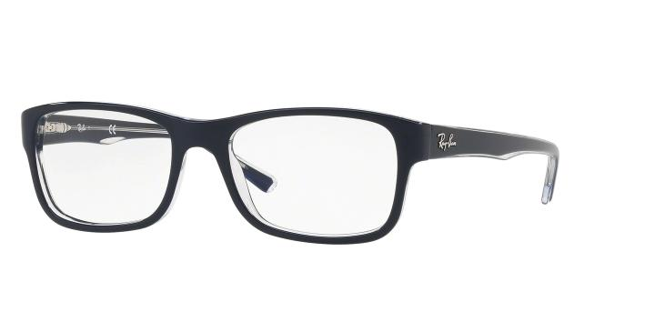 Ray-Ban Eyeglass Rectangular Style Blue / Transparent Color Demo Lens - RX5268 5739 52