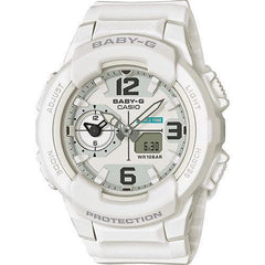 Casio Baby-G BGA-230-7BER Women's Analogue/Digital Watch with Resin Strap White