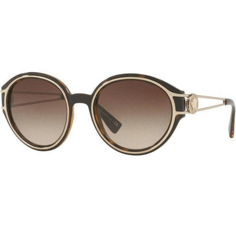 Versace Sunglasses Unisex Round Frame Brown Lens