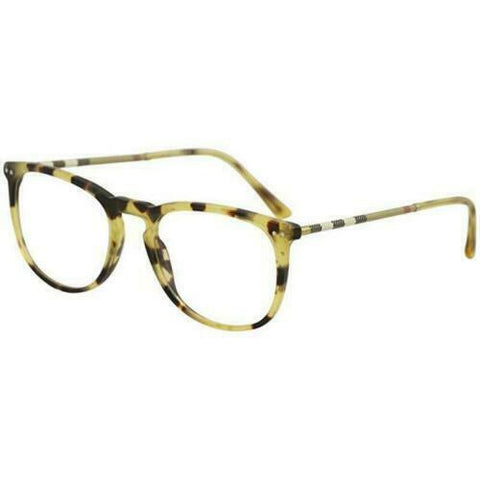 Burberry Eyeglass BE2258Q 3278 55 Square Style | Light Havana Color