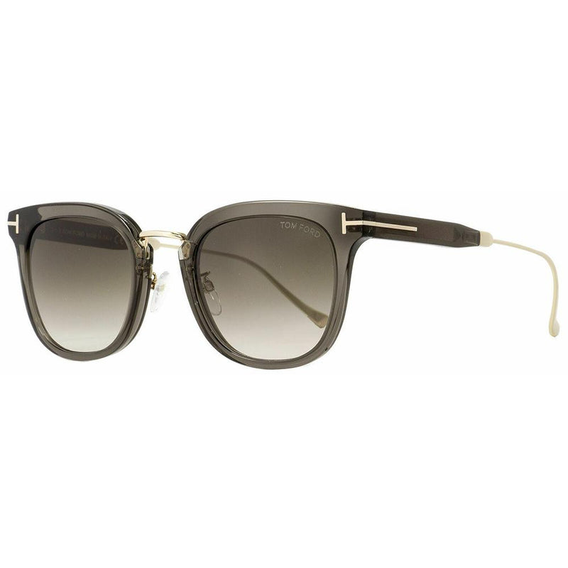 Tom Ford sunglass square style grey/gold frame color - Unisex grey-green gradient lens FT0549/S 20F 53mm