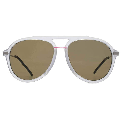 Fendi Sunglass - Aviator Style Fantastic FF M0011/S 900 70 Brown Lens - Matte Crystal Silver Frame