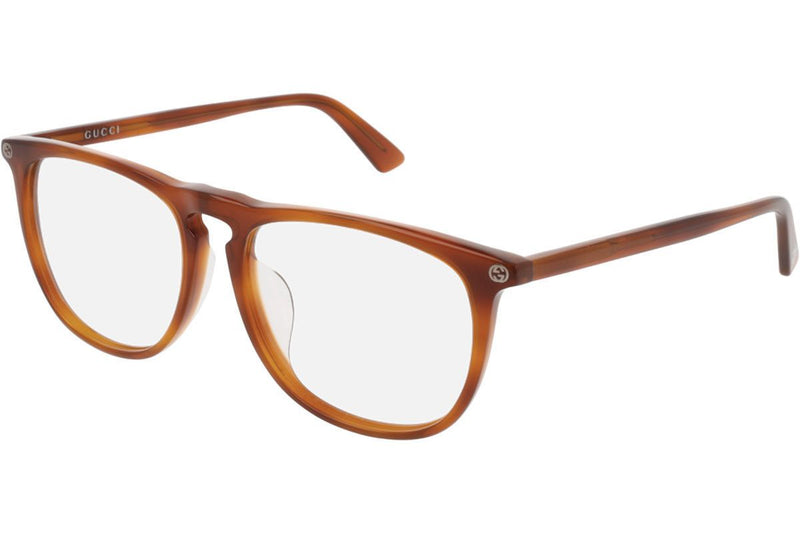 Gucci Eyeglass Square Style - GG0122O 003 55 Havana Color Unisex Eyeglass