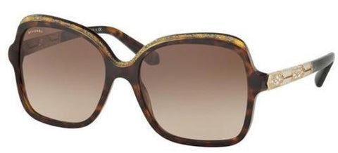 Bvlgari Sunglasses Women Butterfly Style Brown Lens