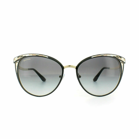 Bvlgari Sunglasses BV6083 20188G 56 Black Pale Gold Grey Gradient
