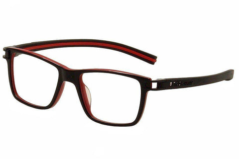 Tag Heuer Eyeglass Square Style Demo Lens - Unisex Eyeglass Black Frame TH7603 001 50mm