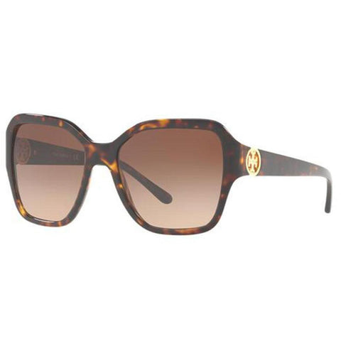 Tory Burch Sunglasses Square Style Brown Gradient Lens