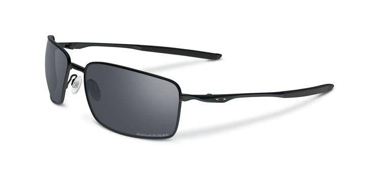 New Oakley Sunglasses Square Wire OO4075-05 Matt Black Black Iridium Polarized