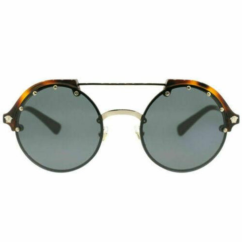 Versace VE4337 260/87 53 Pale Gold/Havana Plastic Sunglasses Grey Lens