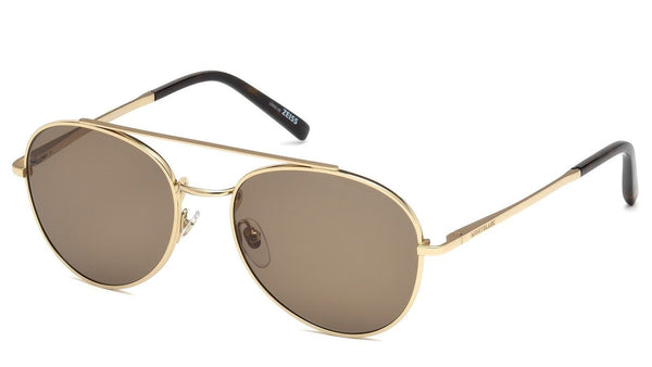 New Mont blanc Sunglasses MB605S 28J 56mm Shiny Rose Gold / Brown Fast Ship