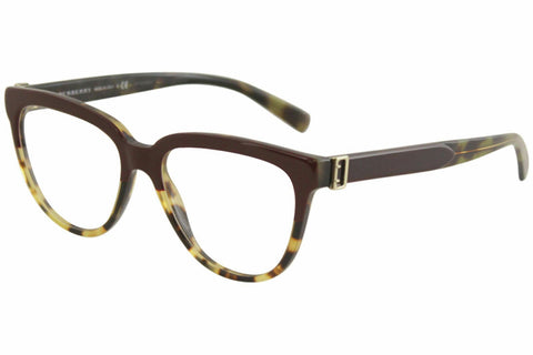 Burberry Women's Eyeglasses BE2268 BE/2268 3682 Red/Tortoise Optical Frame 53mm